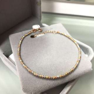 18k three colours gold bracelet