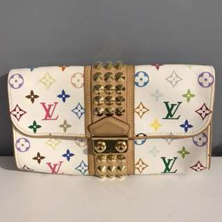 Vintage LV multicolour monogram clutch