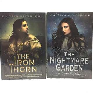 The Iron Thorn and The Nightmare Garden by Caitlin Kittredge, Set, TP