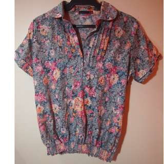 kawaii floral blouse