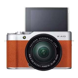 Fujifilm X-A10 with lens