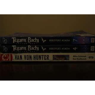 Tegami Bachi Manga and Van Von Hunter Comic (Listed price is for each manga, the comic costs less)