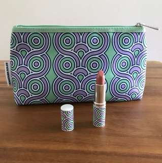 Brand New Clinique Pop Lip Colour + Primer and matching Jonathan Adler pouch