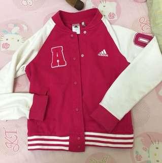 🚚 粉色adidas棒球外套