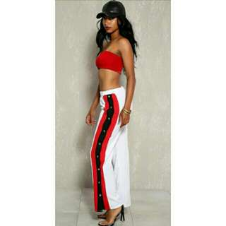Snap Track Pants with Slit