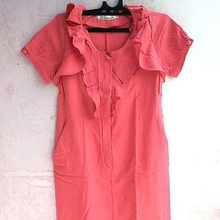 Dress Ruffle Merah