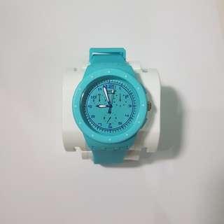 Blue Swatch Watch