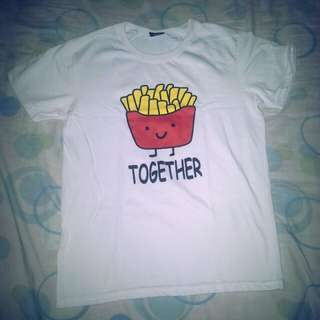 Fries together T-shirt (white)