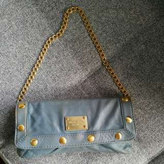 REPRICED FROM 950!!! Michael Kors Blue Clutch/Shoulder Bag