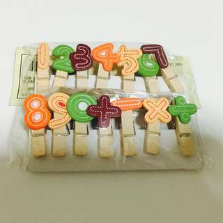 Number Wooden Peg - Lots of designs avail