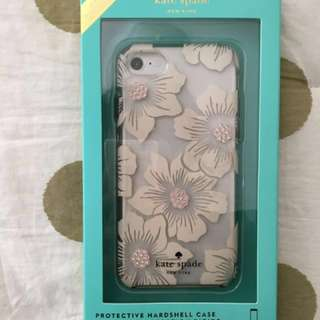 New Kate Spade iPhone 6/6s/7 Clear Hollyhock Floral Case
