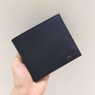 Prada Men Saffiano Wallet with Full Card Compartment
