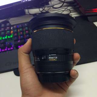 Sigma 20mm 1.8 canon mount