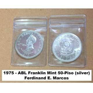1975 50-Piso Ferdinand Marcos Commemorative Silver Coin