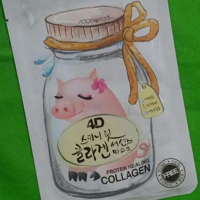 4D Foodaholic Collagen Protein Healing Sheets Mask