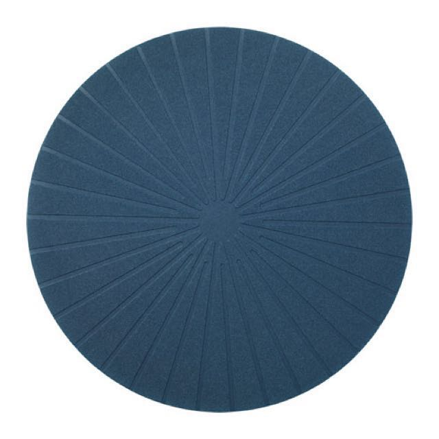 6 IKEA Panna Round Dark Blue Table Place Mat