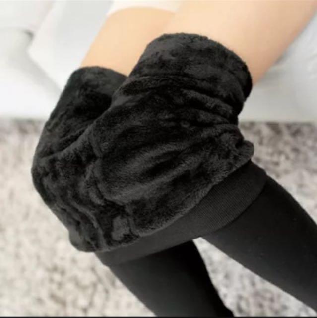 黑色加絨內搭褲