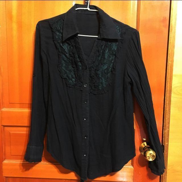黑色襯衫#有超取最好買#冬季衣櫃出清