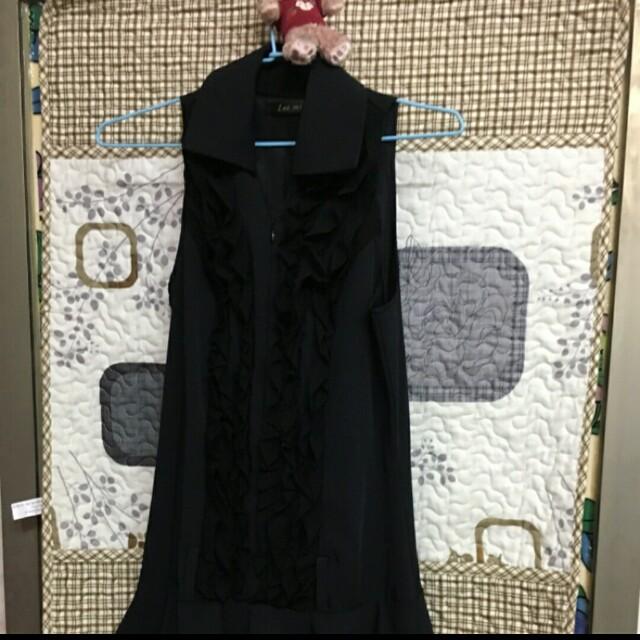 黑色層次感蛋糕裙洋裝