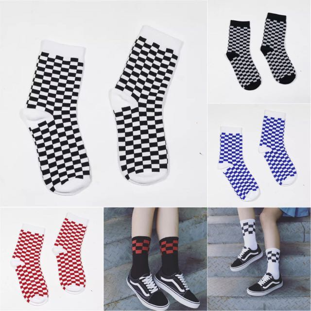 🌟棋盤格子襪