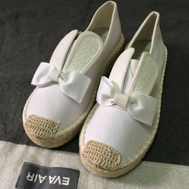 兔耳蝴蝶結懶人鞋