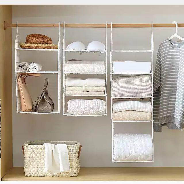 衣櫃收納掛鉤夾層