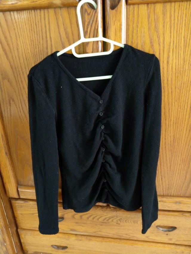 黑色針織外套,飛鼠褲,內搭褲