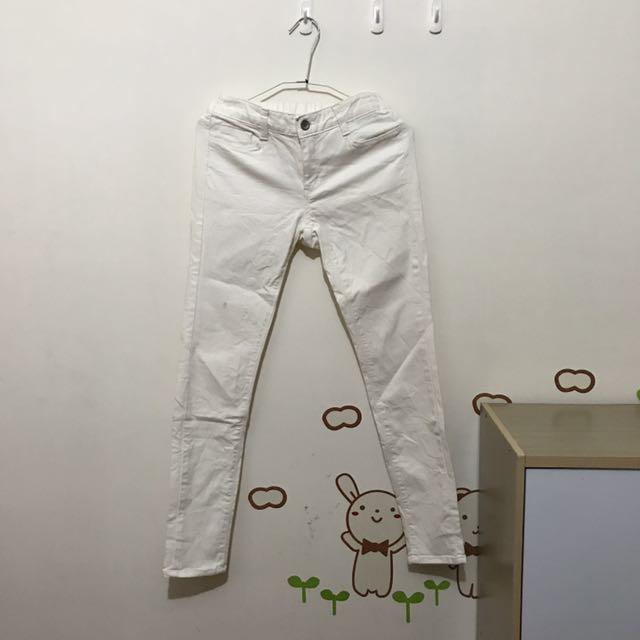 白色韓版貼身褲