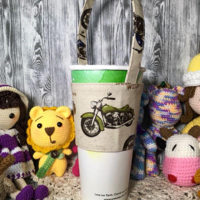日本防水表布製作 750cc 飲料杯 7-11中、大咖啡杯 都合適 上圓周28下圓周24袋高10帶長16(公分)