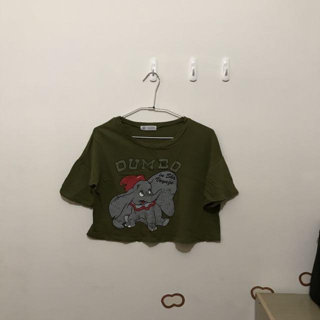 韓小店購入 小飛象短版上衣