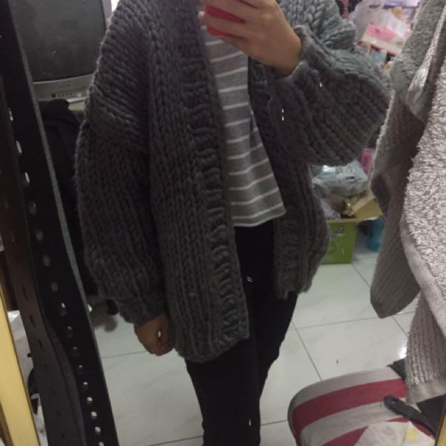 保暖麻花粗針織厚外套 #有超取最好買