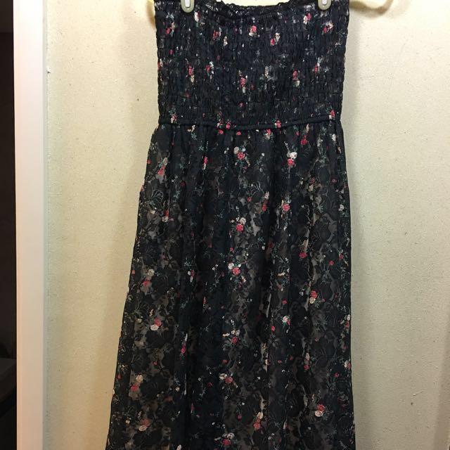 雙層雷斯花裙子 #我的女裝可超取  holidays 特價