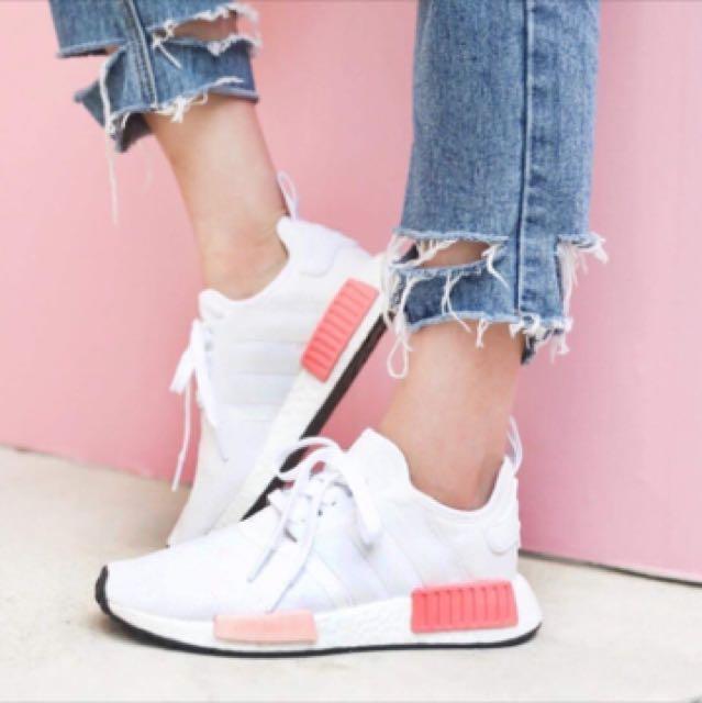 限時特價 Adidas nmd 眾女星必備 乾燥玫瑰 白粉 現貨 保證公司貨 包退萬倍