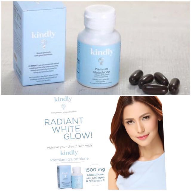 💯 Auth KINDLY GLUTATHIONE with Collagen and Vit C