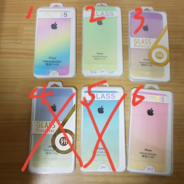 出清售 iPhone 6 plus 正反兩面一組玻璃保護貼