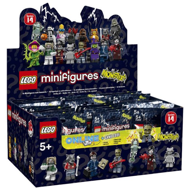 🆕 LEGO Series 14 Monsters Minifigures (Box of 60 packs)
