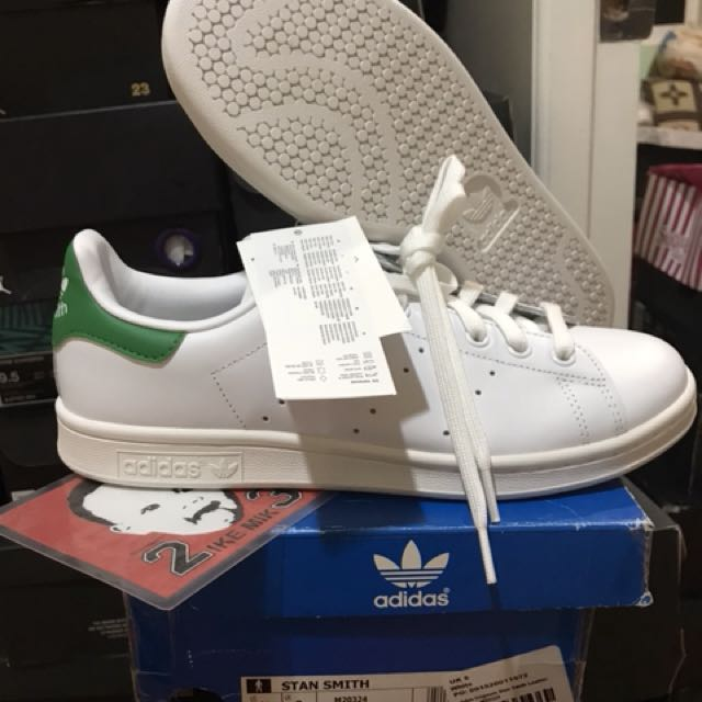 best sneakers d6e6a 82356 ... uk adidas stan smith white green tab mens size 8.5 mens fashion  footwear sneakers on carousell