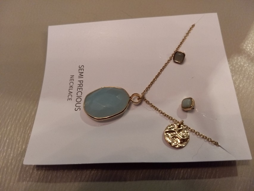 Amazonite necklace and earrings