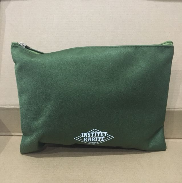 Amenity Kit Institut Karite by Turkish Airlines colour Green Full isi