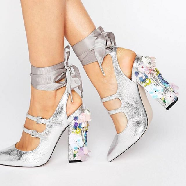 ASOS Embellished Pointed Heels
