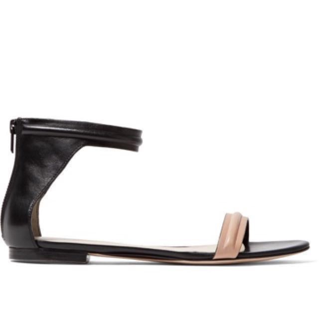 Authentic 3.1 Philip Lim Nude and Black Summer Sandals Flats