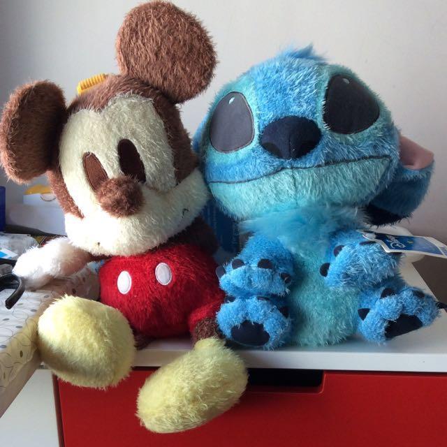 a038478a276 Authentic Disney Sega Plush Toy - Mickey Stitch Backpack