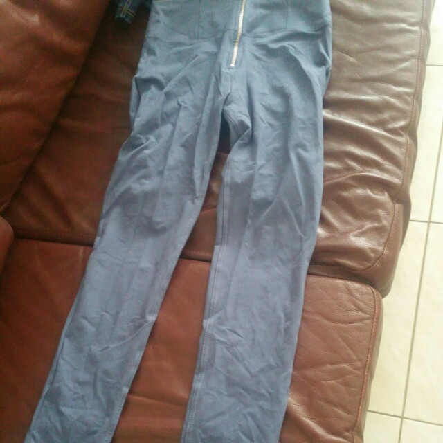 Authentic Freddy .Wrup high waisted zip up shaping pants in blue