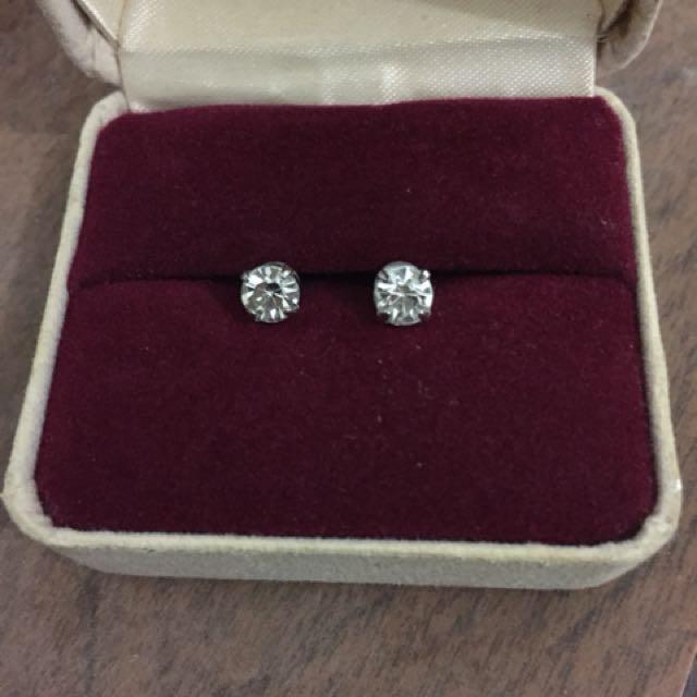 Authentic Swarovski Crystal Diamond Earring Studs