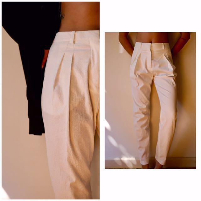BALENCIAGA white pants