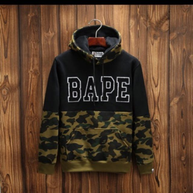 Bape First Green Camo Hoodie Jacket Sweater Pullover