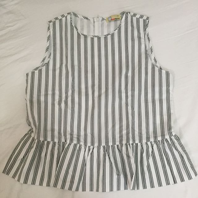 BENCH sleeveless striped top