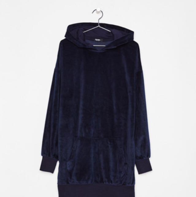 Bershka Velvet Sweatshirt
