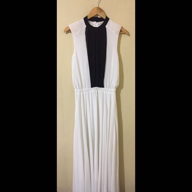Black/White Maxi Dress