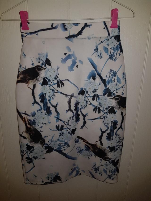 Blue Bird Pin Skirt